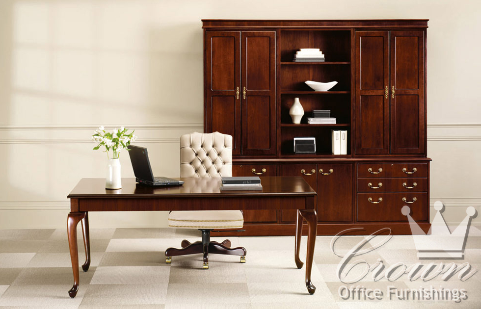 Jefferson Is A Traditional Line Of Office Furniture And Desks That Brings Functionality Elegance To Any Fine Details Come Life In Walnut