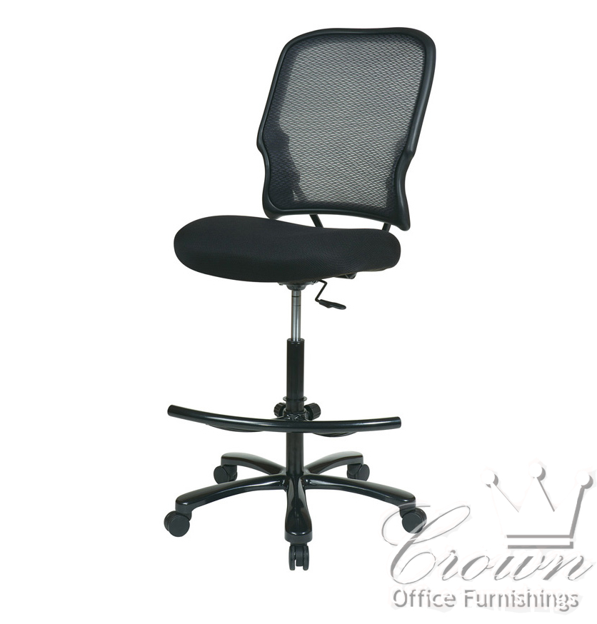 This Deluxe Mesh Chair Offers Comfort At Drafting Chair Height. The Mesh  Back Is Breathable With Built In Lumbar Support. Pneumantic Height Adjusted  Seat Is ...