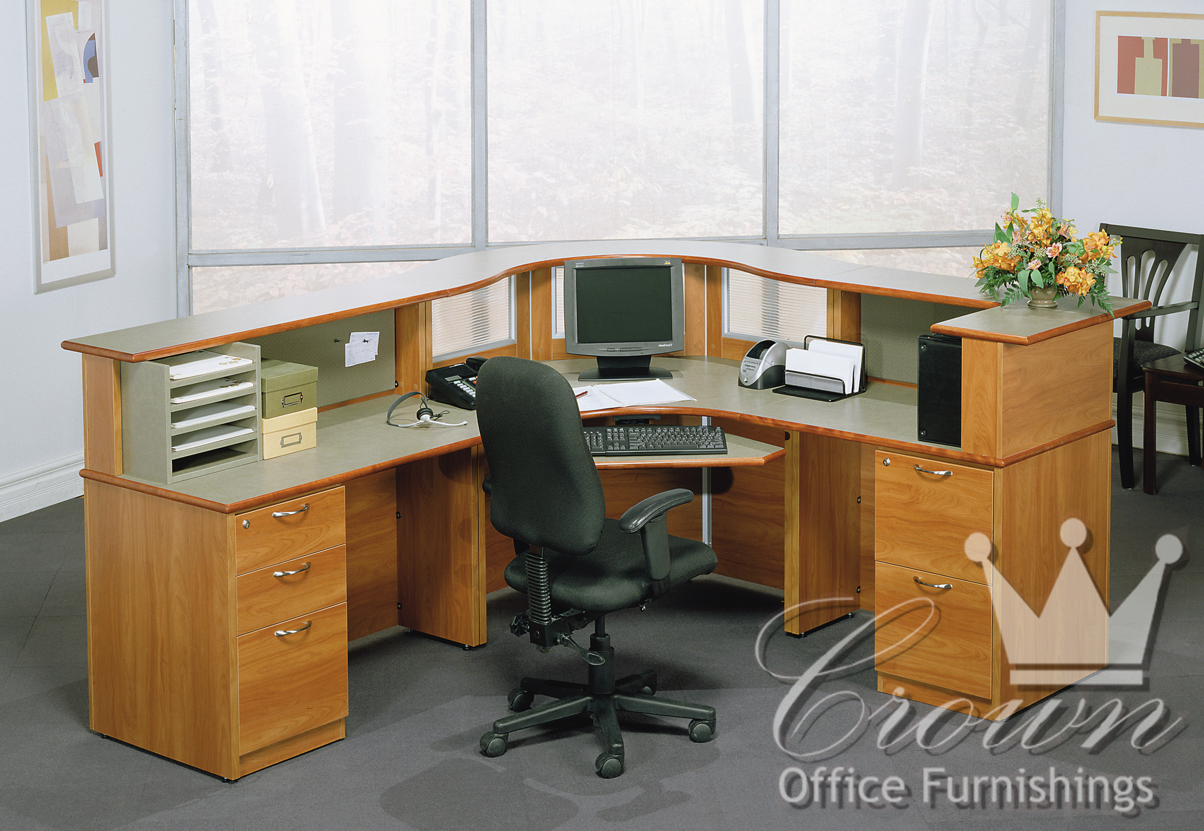 Transitional Reception Crown Office Furniture Tulsa Oklahoma
