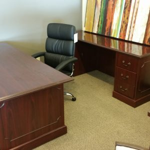PreOwned HON Desk and Credenza Set Crown Office Furniture Tulsa